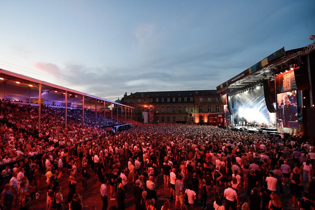 Tontechnik beim Jazz Open: Hauptbühne auf dem Schlossplatz