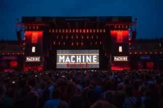 Hauptbühne beim Jazzopen-Festival Stuttgart 2018 beim Kraftklub-Auftritt