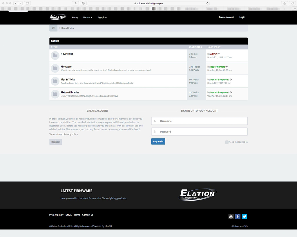 Elation Software Forum