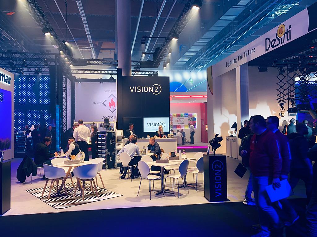 Messestand von VisionTwo und Partnern auf der PL+S 2019