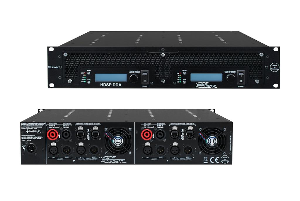 Produktbild Voice-Acoustic DDA System-Verstärker Vorder- und Rückansicht