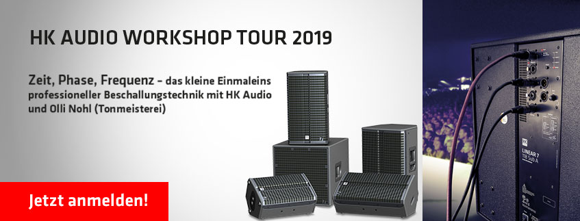 Banner zur HK Audio Workshop Tour 2019