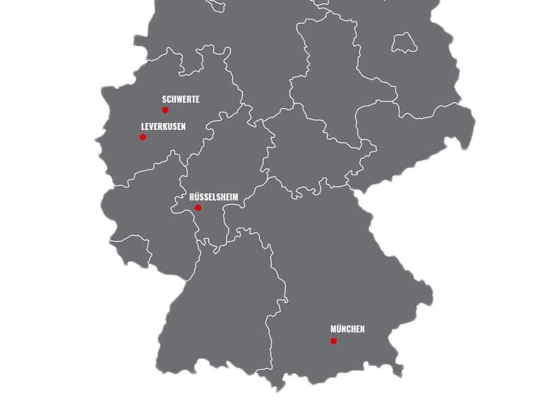 Tourstopps in Deutschland
