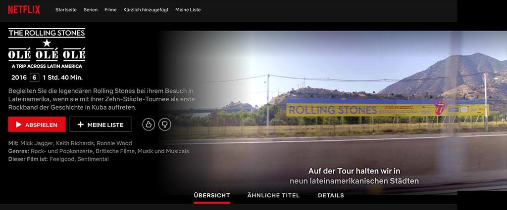 "Doku ""The Rolling Stones – Olé Olé Olé! A Trip Across Latin America"" auf Netflix"