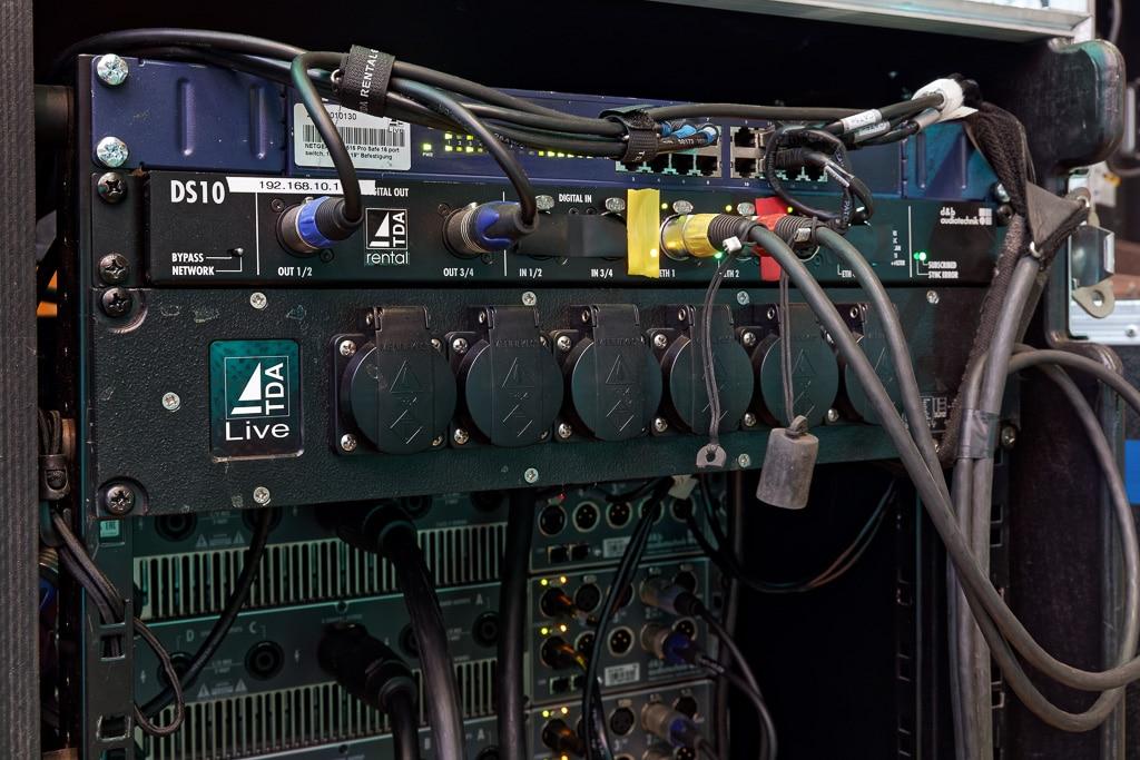 d&b Network Bridge im Amp-Rack