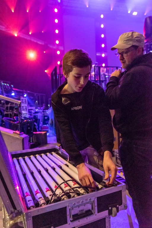 Ausbildung: Kontrolle der Bühnenbeleuchtung