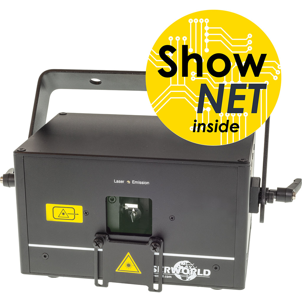ShowNet-Interface im Laserworld-Laser