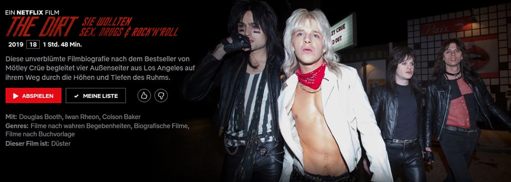 Netflix-Doku: Mötley Crüe – The Dirt