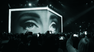 Projektionstüll bei Adele World Tour