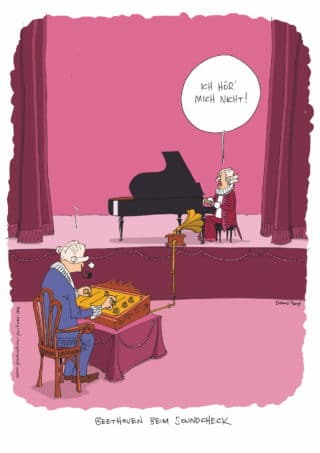 Beethoven beim Soundcheck