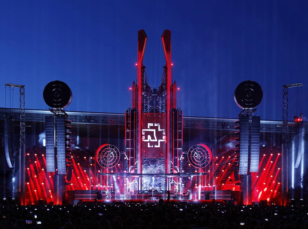Rammstein-Bühne bei der Stadion-Tour 2019