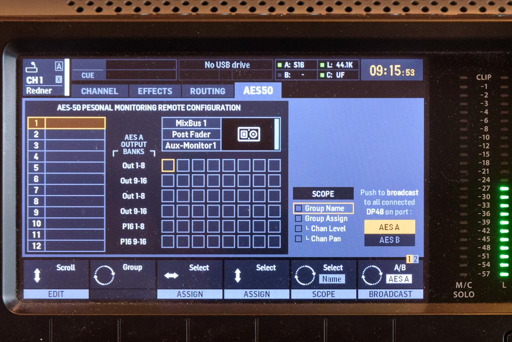X32 Monitor Broadcast