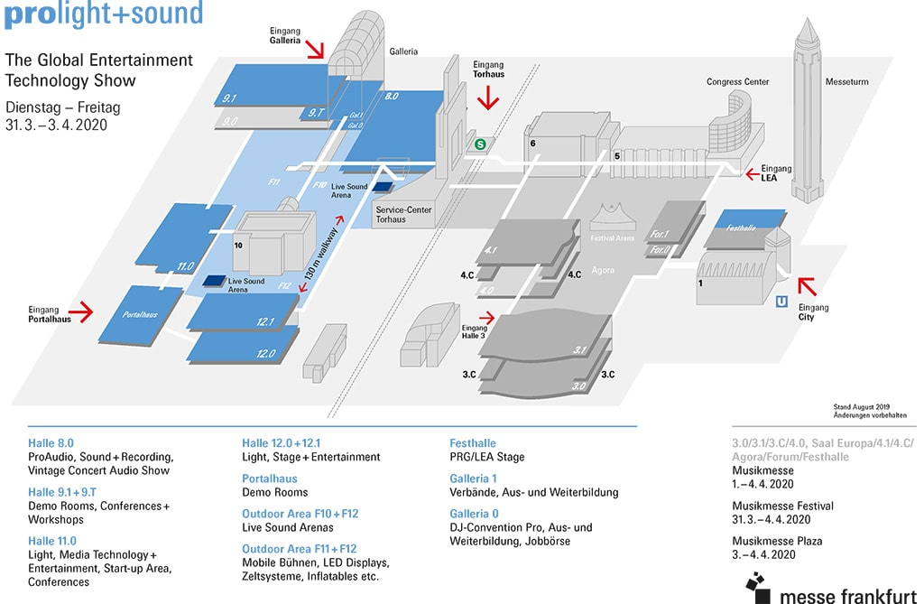 Geländeplan Prolight + Sound 2020