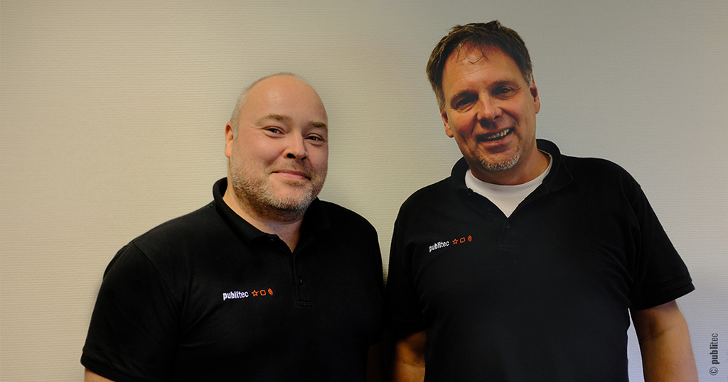 publitec Marc Metzler (li.) und Jens Richter (re.)