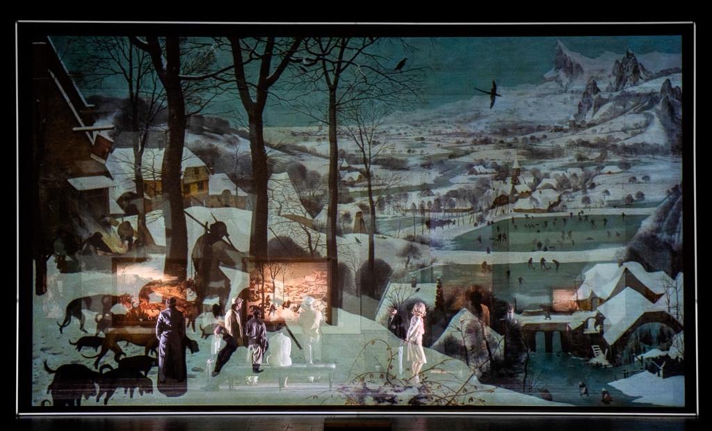 """Bühnenbild """"Violetter Schnee"""""""