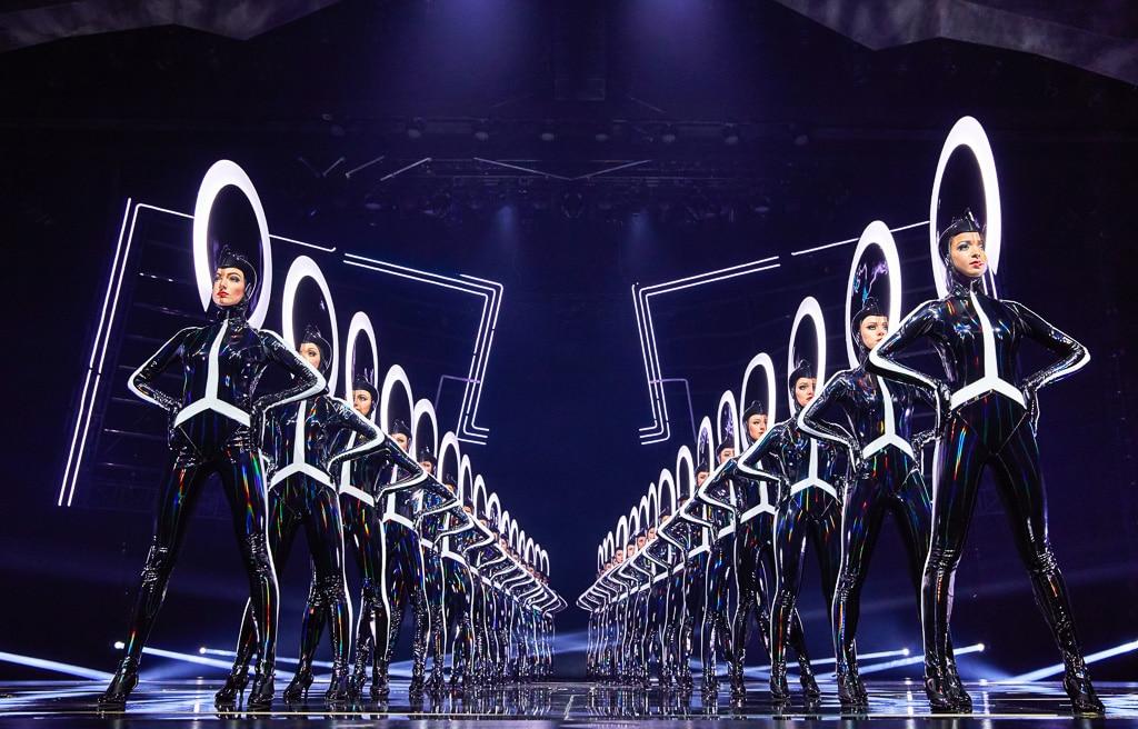 LED-Irokesen bei der VIVID Grand Show