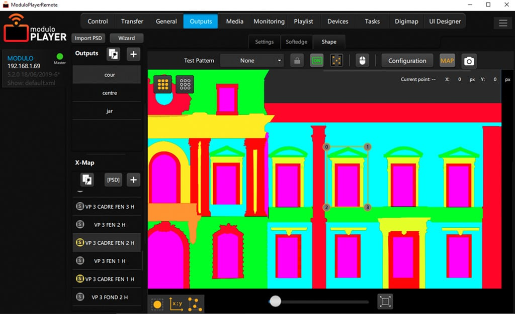 Modulo Player Mapping