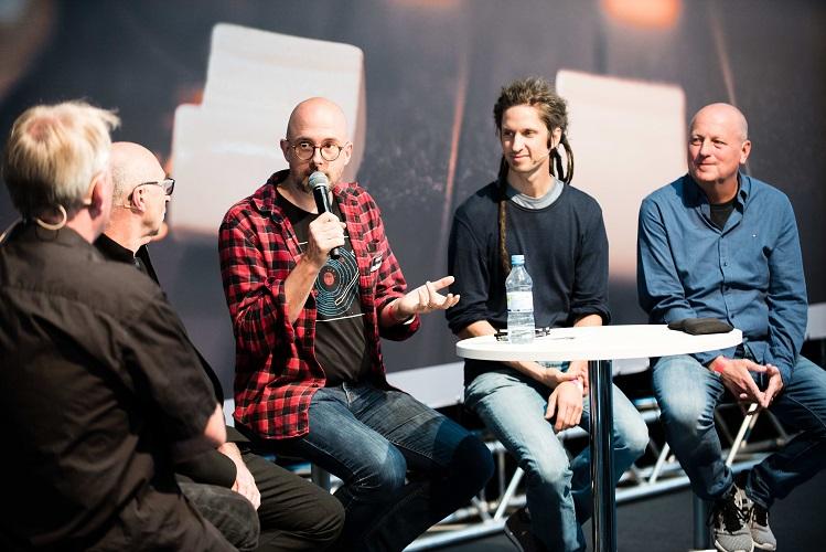 Im Diskussionsforum wurde mit Hans-Martin Buff (Prince, Scorpions) kräftig über Themen der Branche argumentiert.