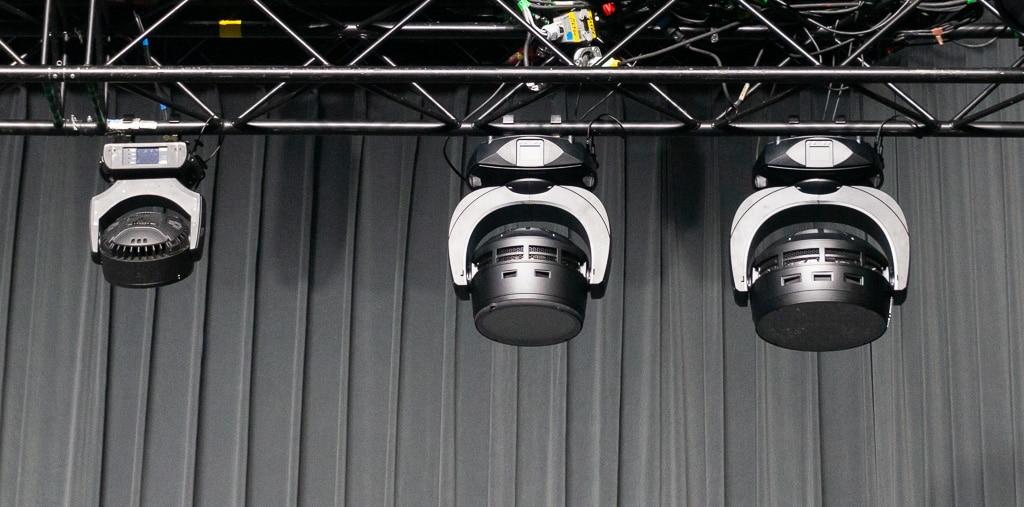 Drei Lampen im Größenvergleich