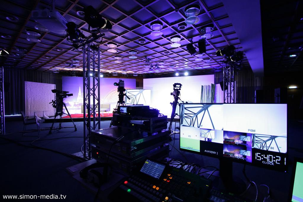 Provisorisches Studio für einen Livestream