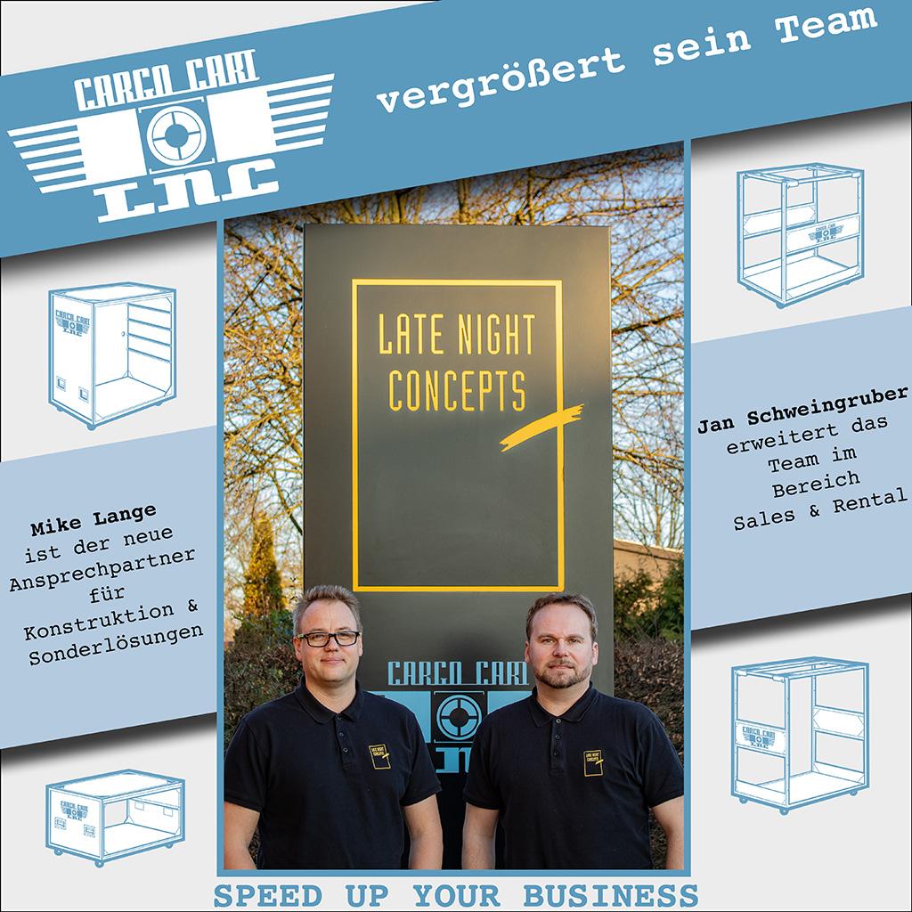 Neue Mitarbeiter bei LNC / Cargo Cart