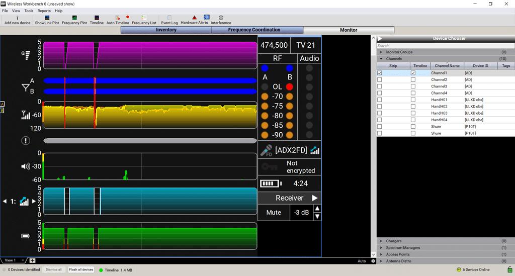 Screenshot aus Wireless Workbench 6