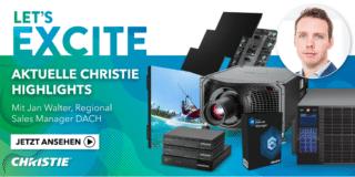 Banner für Videoprodukte von Christie