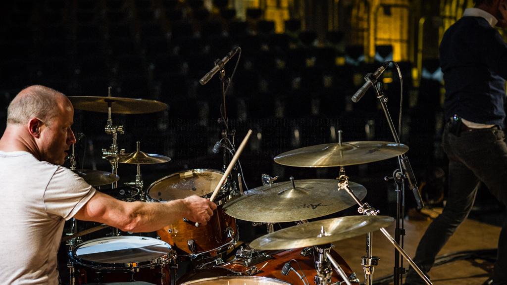 Mikrofonierung des Schlagzeugs