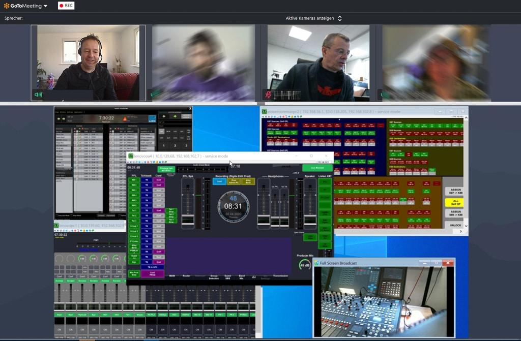 Videokonferenz und Softwarebedienung