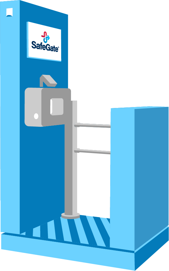 Indoor-Variante des SafeGates
