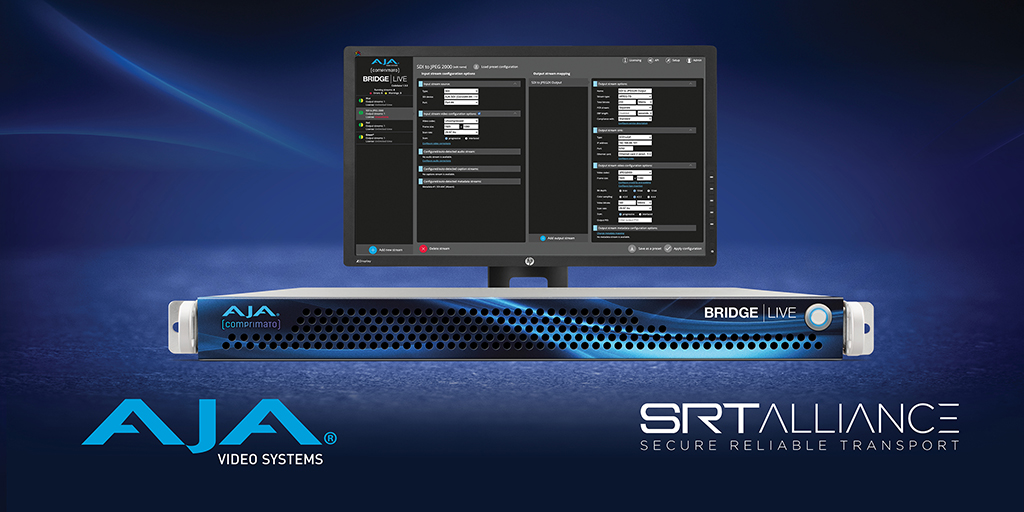 AJA Video Systems SRT Alliance Bridge Live