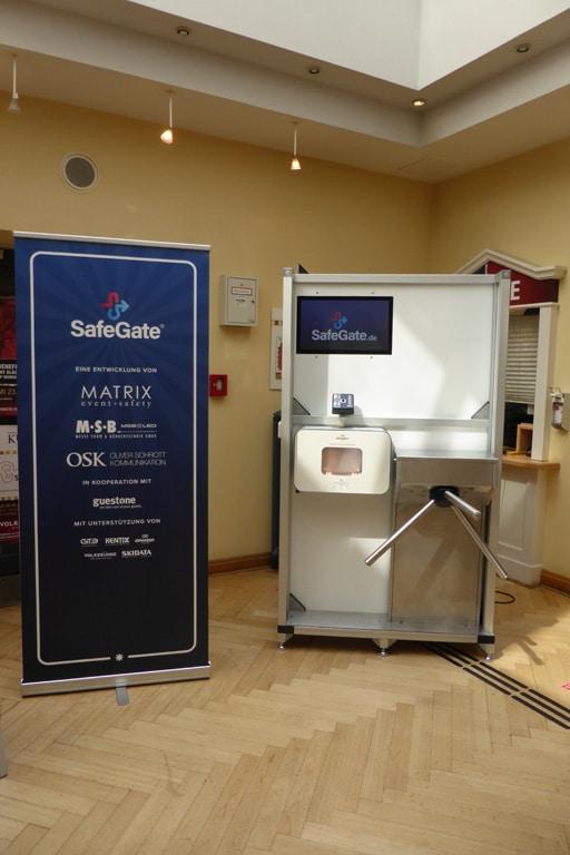 SafeGate Zugangsschleuse Veranstaltungen