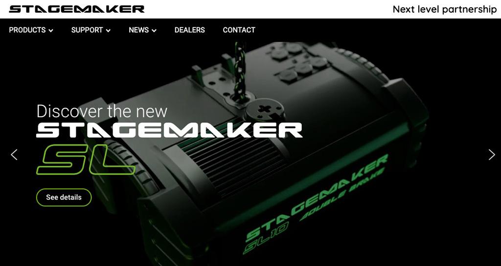 Website von Stagemaker