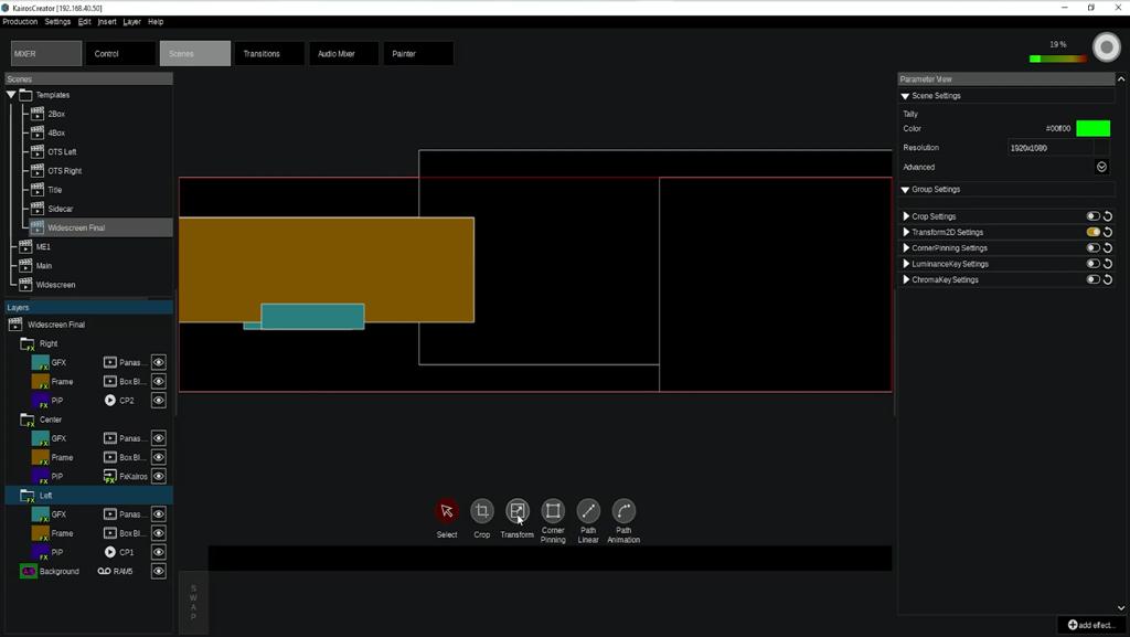 Screenshot Kairos GUI