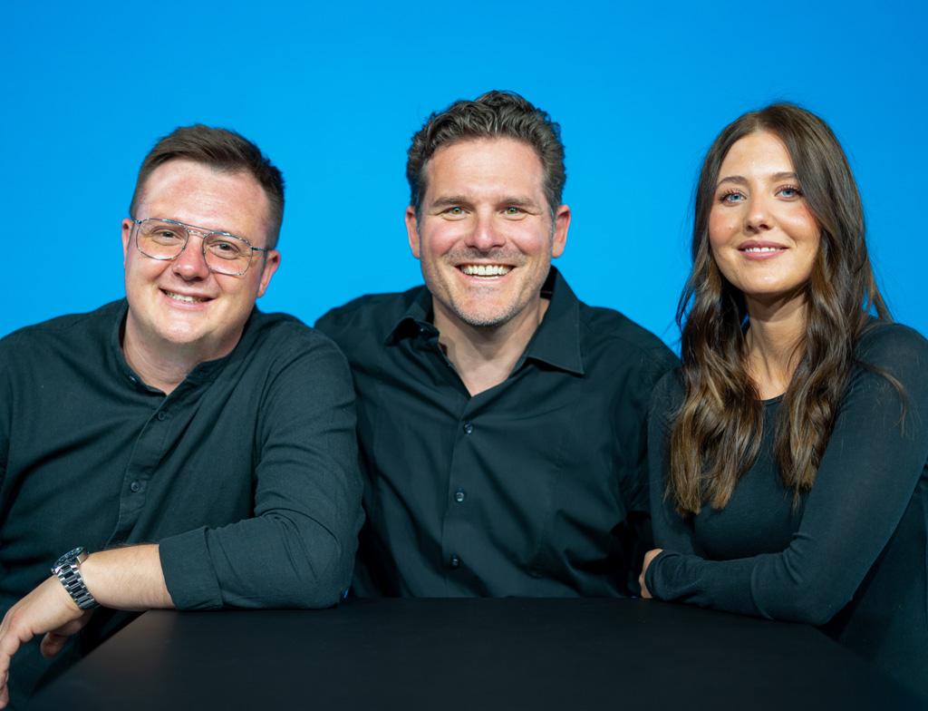 V.l.n.r.: Max Röhrich, Timo Kärcher und Maja Schenk