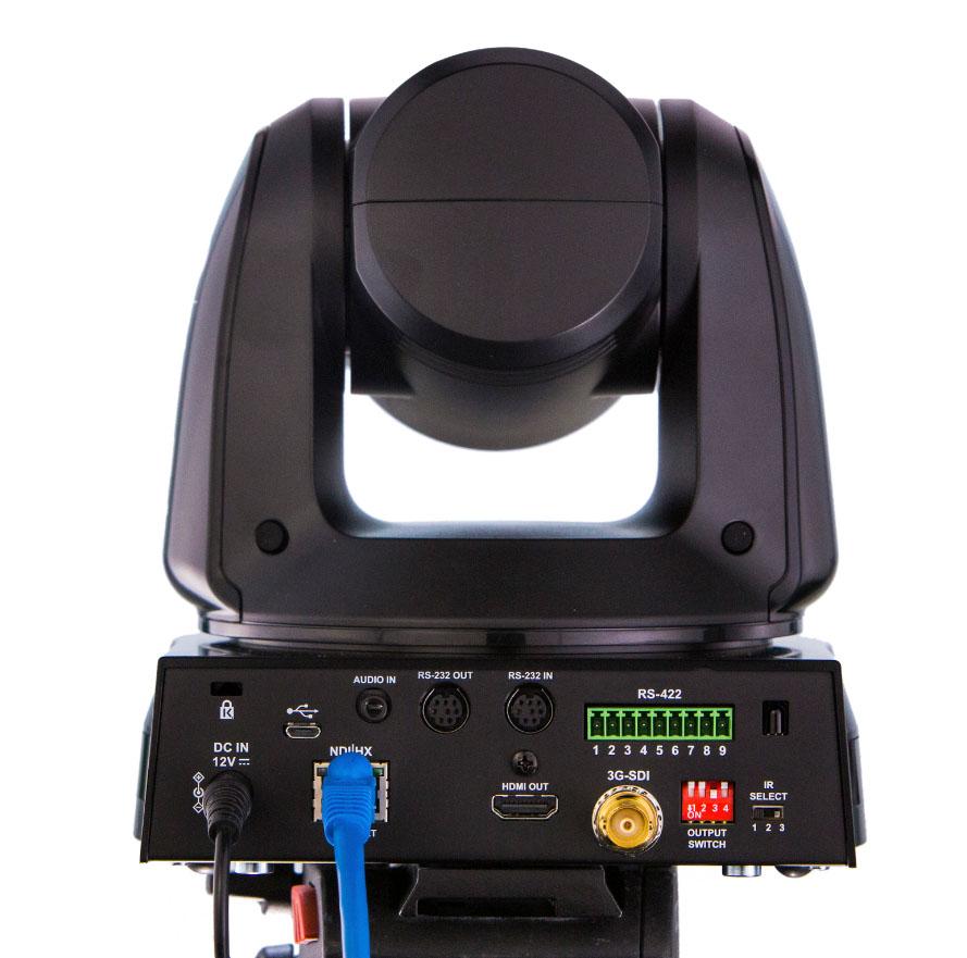 Rückansicht von NewTek PTZ Kamera