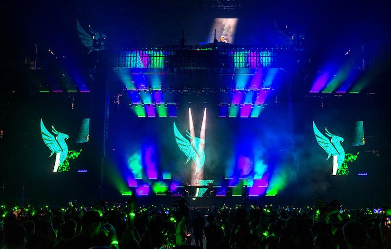 Lichtshow bei Illenium Konzert