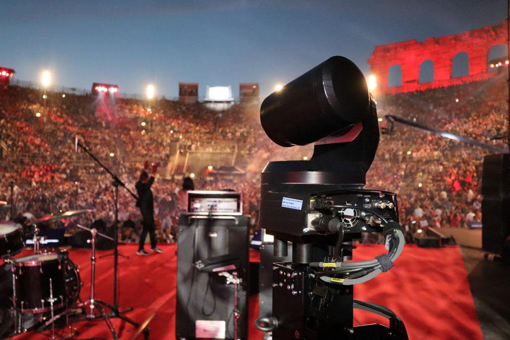 PTZ-Kamera von Panasonic auf Bühne