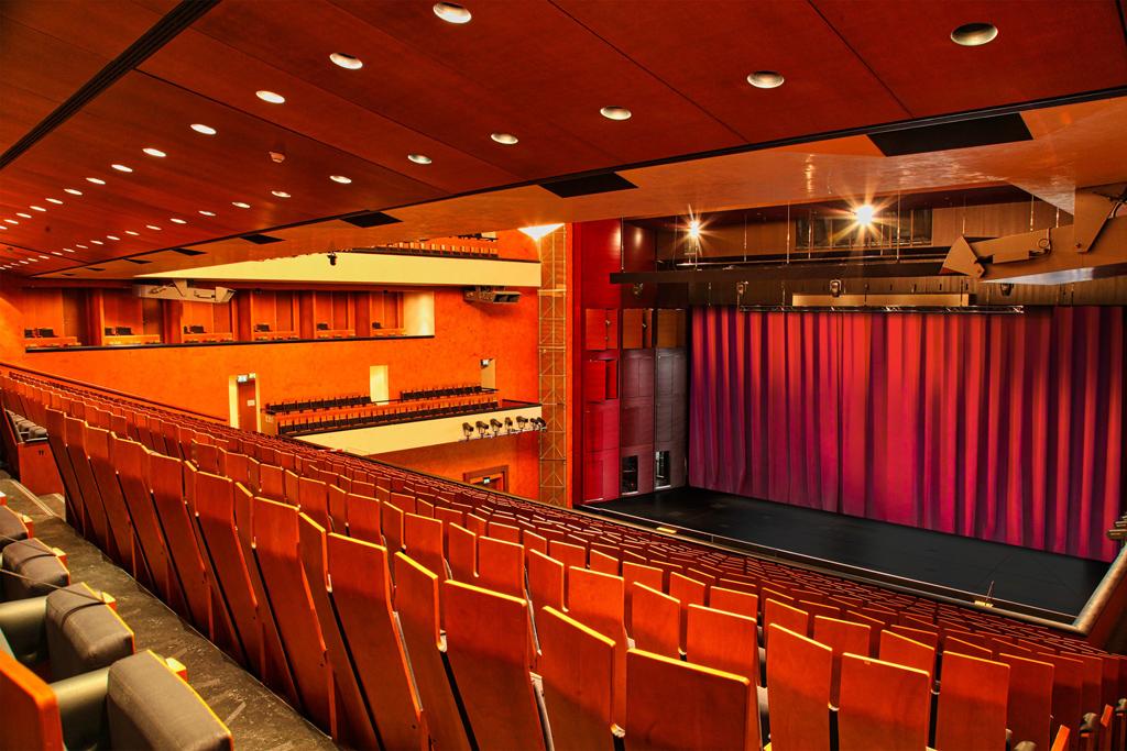 Blick auf die Bühne des Konzerthauses Baden Baden
